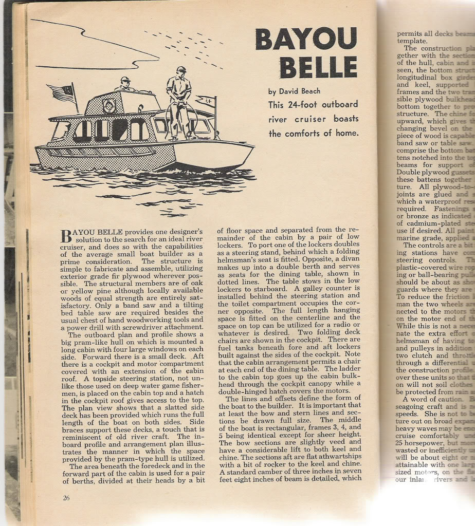 Old Plans: Bayou Belle