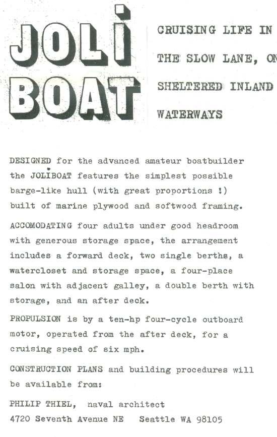 Joli Boat | ShantyboatLiving.com
