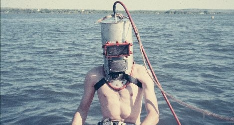 Homemade Diving Helmet 1957