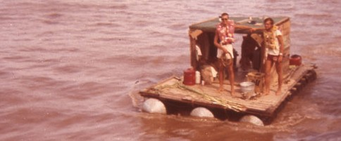 Rafting on the Mississippi River 1964