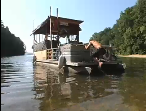 : In the summer of 2008, Bill and Max drove a modified pontoon boat ...