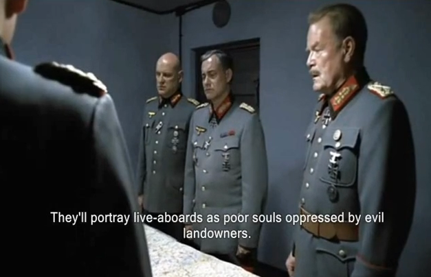 "Hitler ""Discusses"" Liveaboards"
