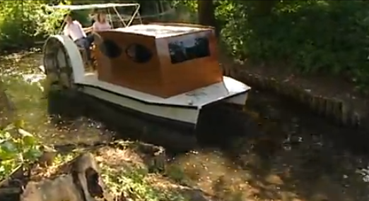 German Pedal Powered Sidewheeler
