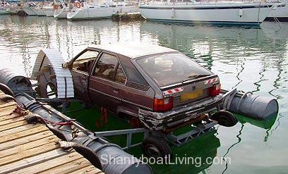 Car paddlewheeler