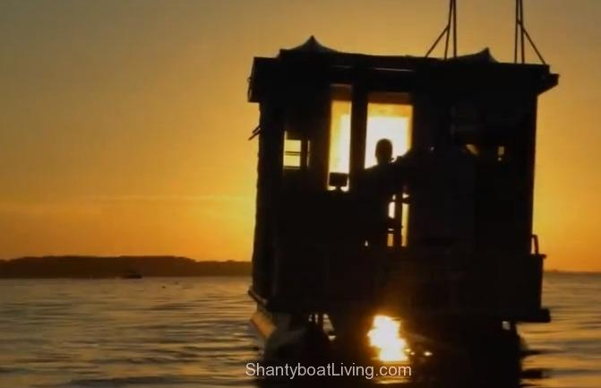 Party Barge Converted to Houseboat – ShantyboatLiving com