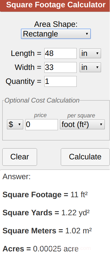 Calculate House Square Footage Flooring Sq Ft Calculator
